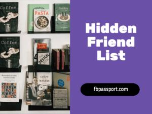facebook hidden friend list